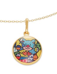 Alex And Ani Friendship Bear Art Infusion Necklace Charm Gold