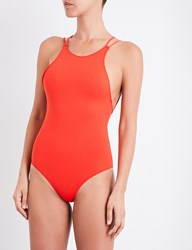 French Connection String Back Swimsuit Sunset Wave
