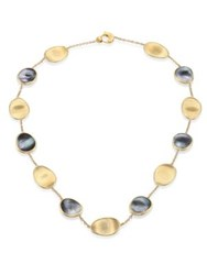 Marco Bicego Lunaria Black Mother Of Pearl And 18K Yellow Gold Necklace Gold Black Pearl