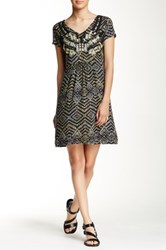 Angie Beaded Embroidered Print Dress Multi