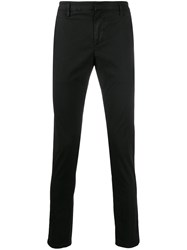 Dondup Mid Rise Tapered Leg Chinos Black