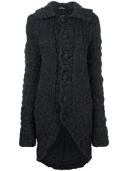 Comme Des Garcons Vintage Chunky Knit Long Cardigan Grey