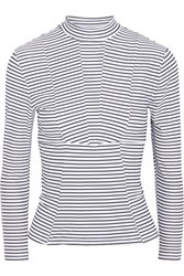 Mikoh Striped Rash Guard Black