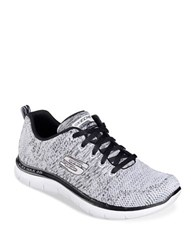 Skechers Flex Appeal Knit Lace Up Sneakers White