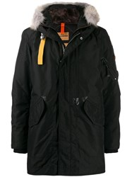 Parajumpers Fur Trim Parka Black