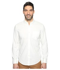 Dockers Premium Long Sleeve Weathered Oxford Paper White Pattern Men's Clothing