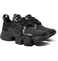 Givenchy Jaw Neoprene Suede Leather And Mesh Sneakers Black