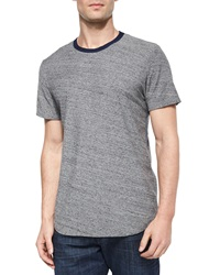 7 For All Mankind Textured Short Sleeve Crewneck Tee Gray