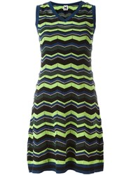 M Missoni Zigzag Knit Dress Multicolour