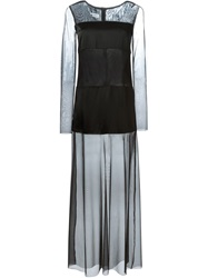 Dondup Sheer Maxi Dress Black