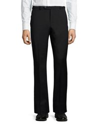 Neiman Marcus Dunhill Wool Straight Leg Trousers Dark Blue
