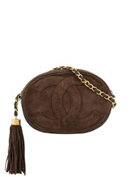 Chanel Vintage Fringe Chain Shoulder Bag Brown