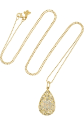 Carolina Bucci 18 Karat Gold Diamond And Opal Necklace