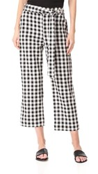The Lady And The Sailor Tie Pants Black Gingham