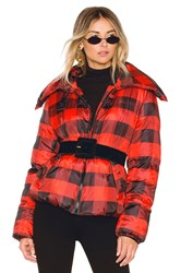 Kendall Kylie Puffer Jacket Red