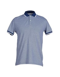 Heritage Topwear Polo Shirts Men Blue