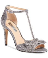 Inc International Concepts Risha Embellished Knot Detail Evening Sandals Only At Macy's Women's Shoes Pewter
