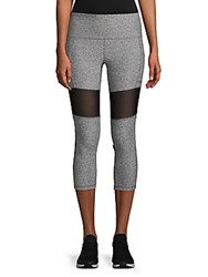 X By Gottex Power Mesh Capri Leggings Dark Heather