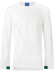 Adidas Crew Neck Jumper White