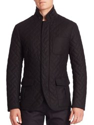 Giorgio Armani Cashmere Blend Quilted Jacket Black