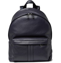 Tod's Full Grain Leather Backpack Midnight Blue