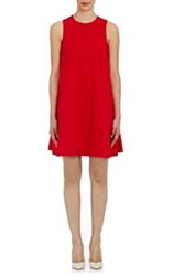 Lisa Perry Sleeveless A Line Dress Red