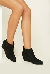Forever 21 Faux Suede Wedge Booties