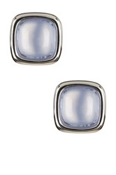 Effy 14K White Gold Blue Chalcedony Stud Earrings