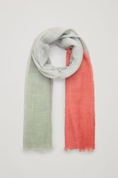 Cos Dip Dyed Wool Scarf Green