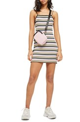 Topshop Candy Stripe Body Con Minidress Multi
