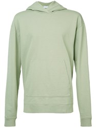 John Elliott Oversized Cropped Hoodie Men Cotton S Green