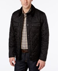 Barbour Men's Diamond Quilted Bomber Jacket Black