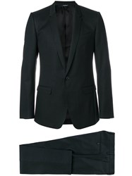 Dolce And Gabbana Two Piece Dinner Suit Silk Cotton Cupro Virgin Wool Black