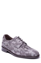 Jared Lang Caleb Camo Wingtip Derby Grey Camo Leather