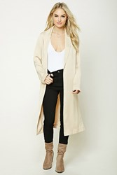 Forever 21 Contemporary Satin Coat Champagne