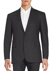Ralph Lauren Black Label Plaid Wool Jacket Charcoal Black