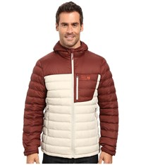 Mountain Hardwear Dynotherm Hooded Down Jacket Fossil Redwood Men's Coat White