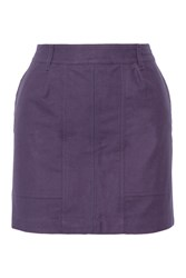 Tomas Maier Brushed Cotton Mini Skirt Purple