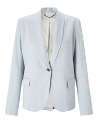 Jigsaw Portofino Shawl Collar Jacket Grey