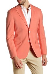 Spurr By Simon Spurr Coral Two Button Notch Lapel Wool Sport Coat Red