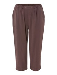Tigi Cropped Trousers Brown