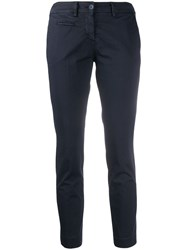 Peuterey Cropped Skinny Trousers Blue