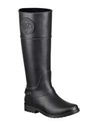 Guess Cougar Faux Leather Mid Calf Boots Black