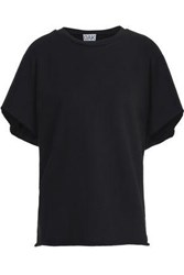 Oak Frayed Cotton Top Black