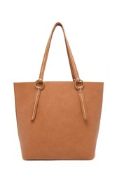 Forever 21 Pebbled Faux Leather Tote Tan