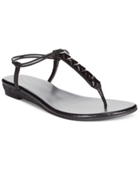 Style And Co. Eliahh Ankle Strap Thong Sandals Women's Shoes Black