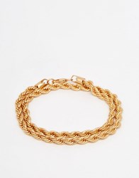 Chained And Able Double Wrap Rope Chain Bracelet In Gold Gold