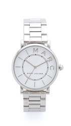 Marc Jacobs Roxy Watch Sterling Silver White Satin