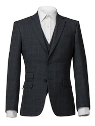 Alexandre Of England Men's Astor Tailored Check Jacket Charcoal