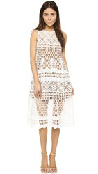 Ministry Of Style Demure Midi Dress Ivory